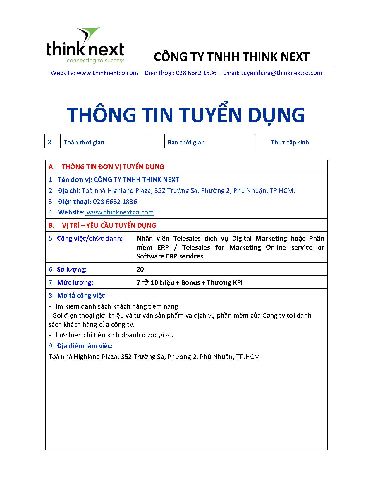 CTY THINK NEXT-THONG TIN TUYEN DUNG DOANH NGHIEP_Telesales Digital & ERP_Page_1
