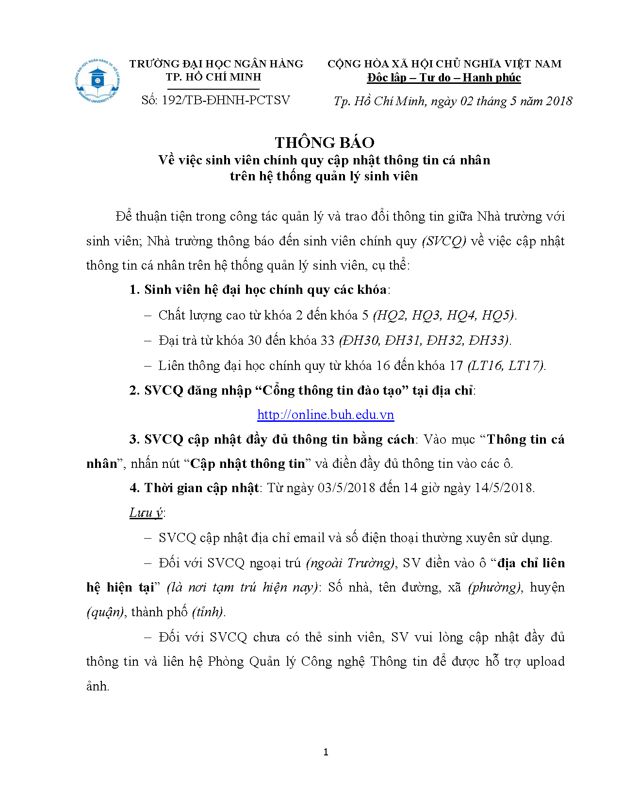 02.05.2018 - Thong bao ve viec SVCQ cap nhat thong tin ca nhan_Page_1